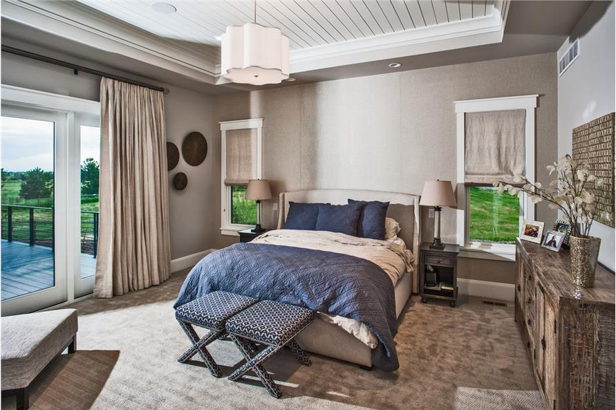 Master Bedroom of this 5-Bedroom,4784 Sq Ft Plan -4784