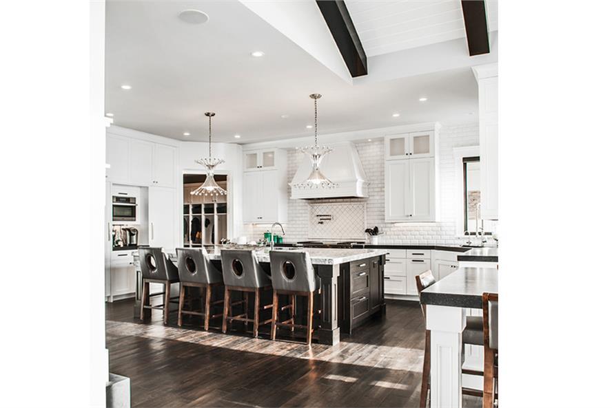 161-1077: Home Plan Rendering-Dining Room