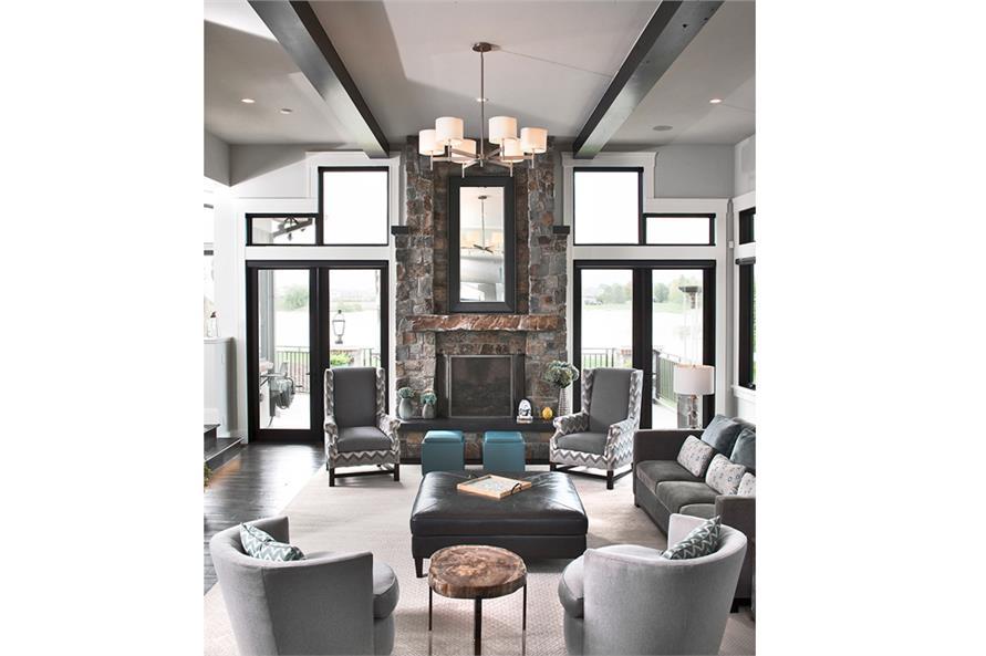 161-1077: Home Plan Rendering-Great Room