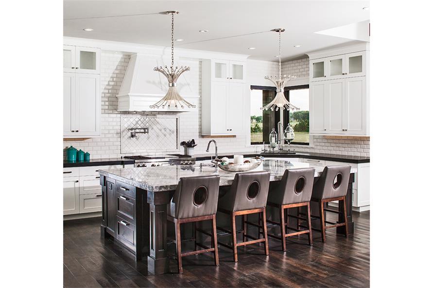 161-1077: Home Plan Rendering-Kitchen