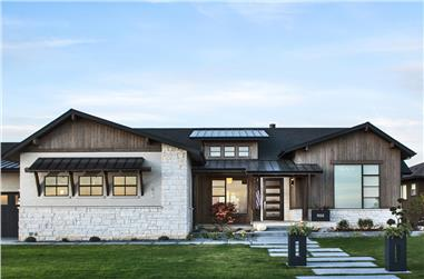 Front elevation of Ranch home (ThePlanCollection: House Plan #161-1078)