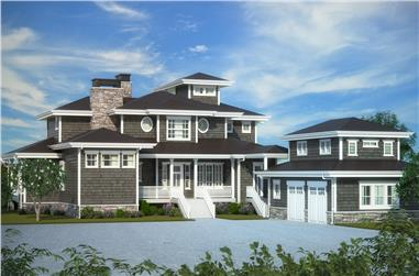 Front elevation of Ranch home (ThePlanCollection: House Plan #161-1079)