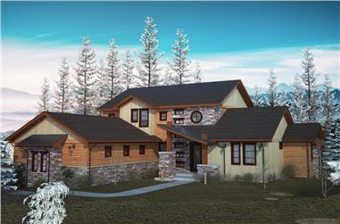 4-Bedroom, 3413 Sq Ft Cottage Home Plan - 161-1080 - Main Exterior