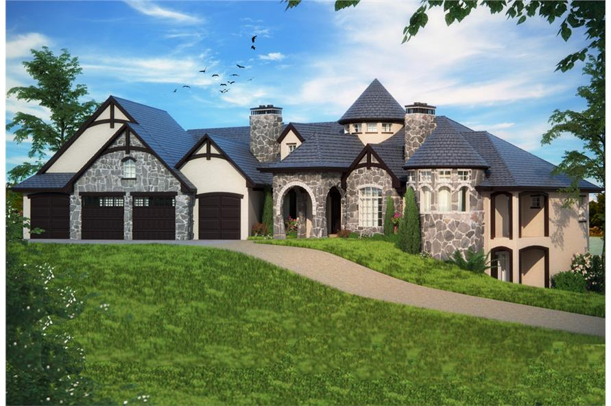 2 Bedrm, 4774 Sq Ft Tudor House Plan #161-1082