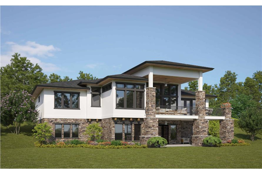 Rear View of this 4-Bedroom,2593 Sq Ft Plan -161-1085