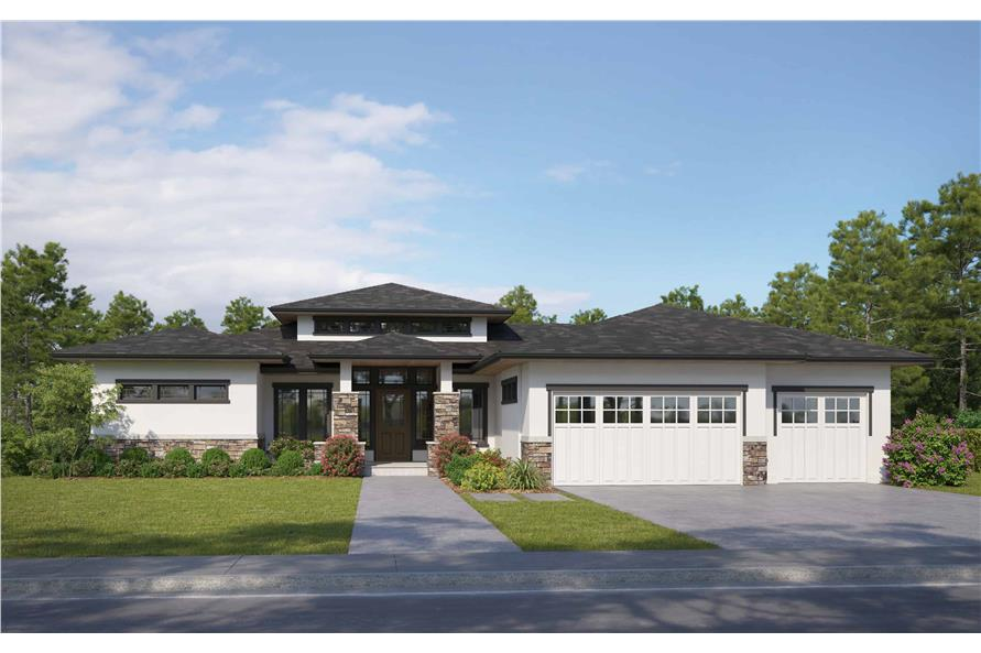 Front View of this 4-Bedroom,2593 Sq Ft Plan -161-1085