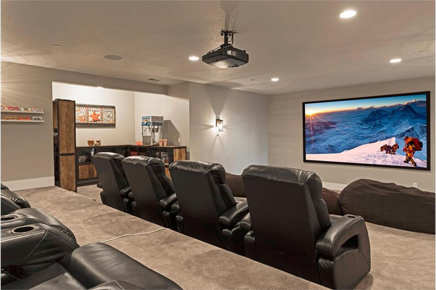 Media Room of this 4-Bedroom,3757 Sq Ft Plan -3757