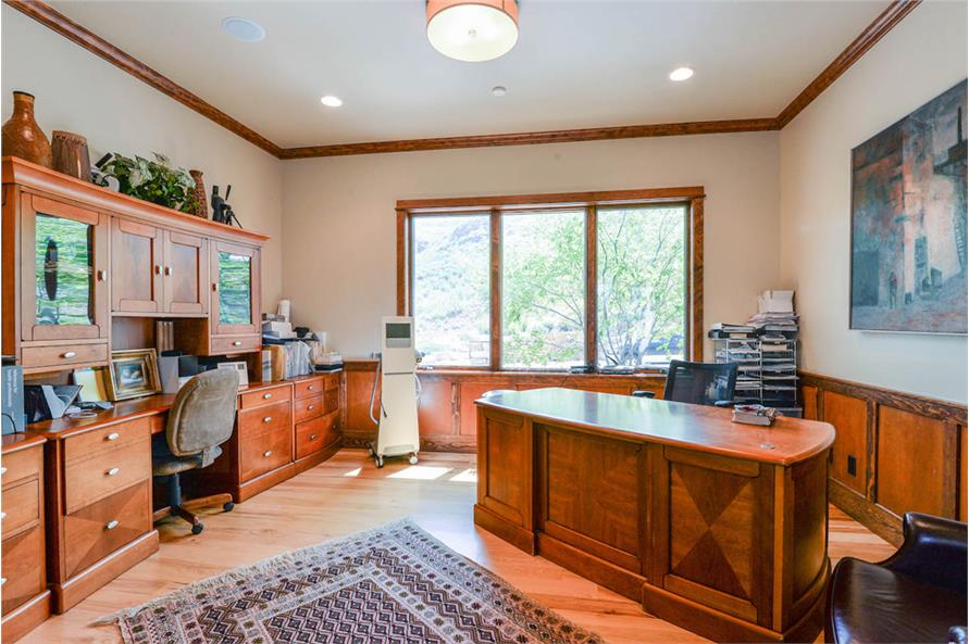 Home Office: Library of this 2-Bedroom,3469 Sq Ft Plan -3469