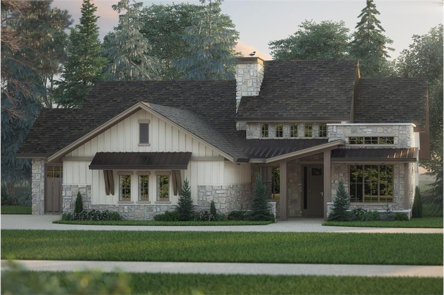 2–4-Bedroom, 2491 Sq Ft Cottage Home - Plan #161-1096 - Main Exterior
