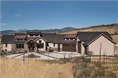 2–4-Bedroom, 2748 Sq Ft Ranch Home Plan - 161-1098 - Main Exterior