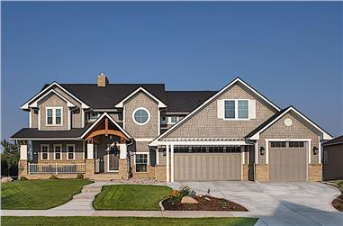 3–5-Bedroom, 3880 Sq Ft Craftsman Home - Plan #161-1102 - Main Exterior