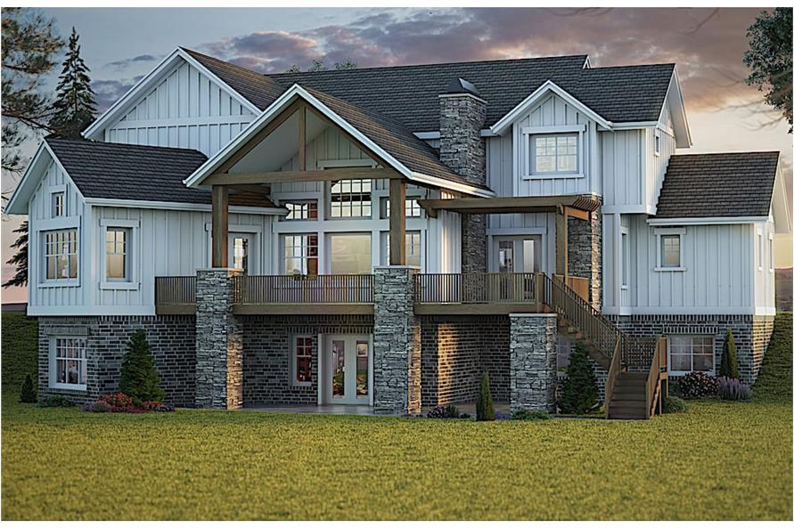 Rear View of this 4-Bedroom,4072 Sq Ft Plan -4072