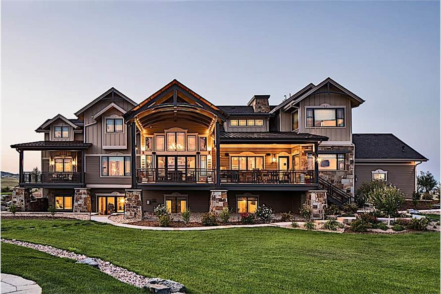 Rear View of this 4-Bedroom,4917 Sq Ft Plan -4917