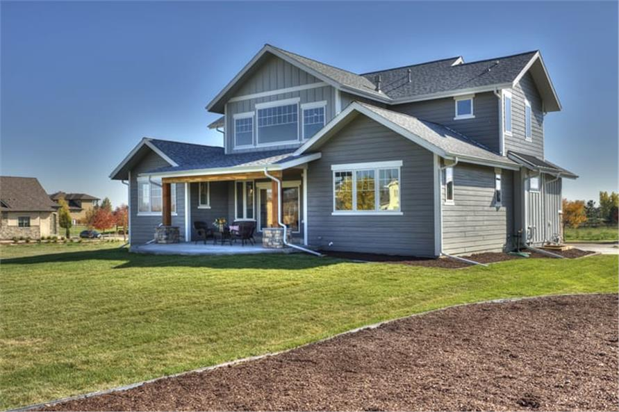 Rear View of this 5-Bedroom,3307 Sq Ft Plan -3307
