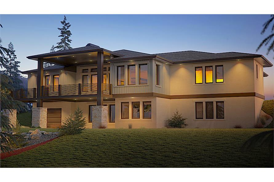 Home Plan Rear Elevation of this 2-Bedroom,2492 Sq Ft Plan -161-1110
