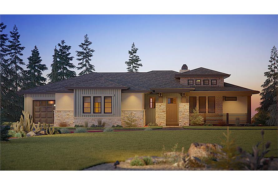 Home Plan Front Elevation of this 3-Bedroom,2492 Sq Ft Plan -161-1110