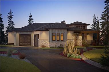 2-Bedroom, 2492 Sq Ft Ranch House - Plan #161-1110 - Front Exterior