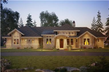 1-Bedroom, 2725 Sq Ft Ranch Home - Plan #161-1114 - Main Exterior