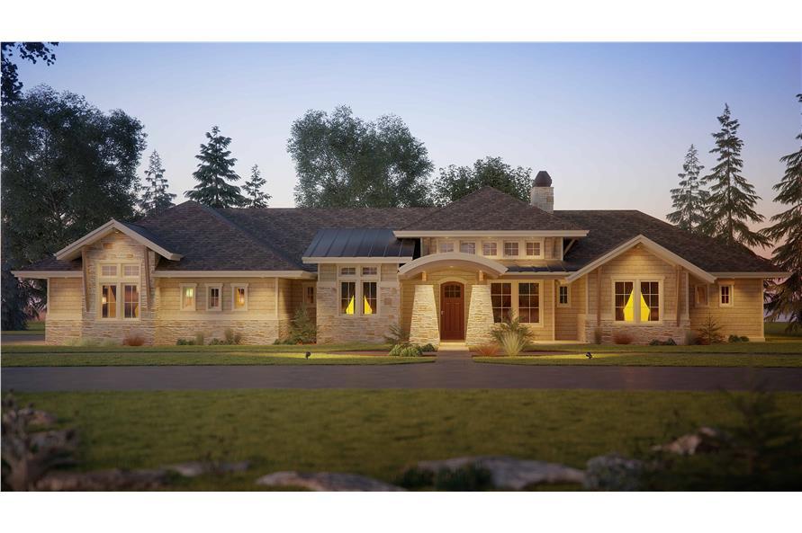 1-Bedroom, 2725 Sq Ft Ranch Home - Plan #161-1114 - Main Exterior