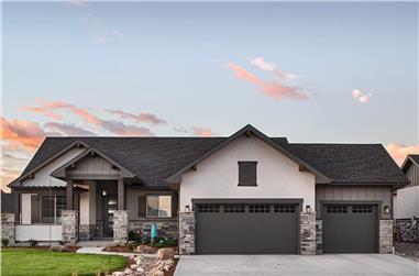 3-Bedroom, 2526 Sq Ft Ranch Home - Plan #161-1115 - Main Exterior