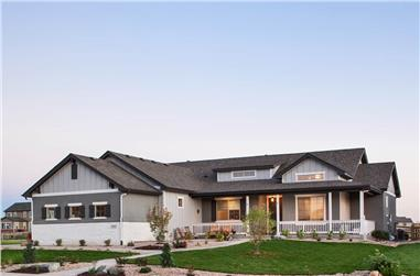 3-Bedroom, 2509 Sq Ft Ranch House - Plan #161-1117 - Front Exterior