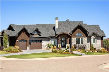 2-Bedroom, 3526 Sq Ft Ranch House - Plan #161-1118 - Front Exterior