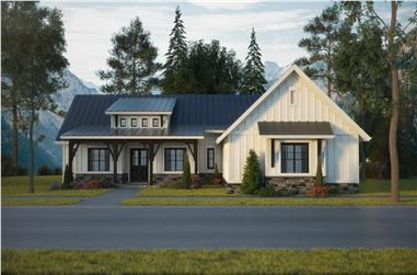 3-Bedroom, 2875 Sq Ft Country Home - Plan #161-1120 - Main Exterior