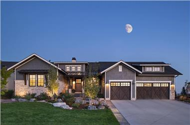 2-Bedroom, 2615 Sq Ft Ranch House - Plan #161-1121 - Front Exterior