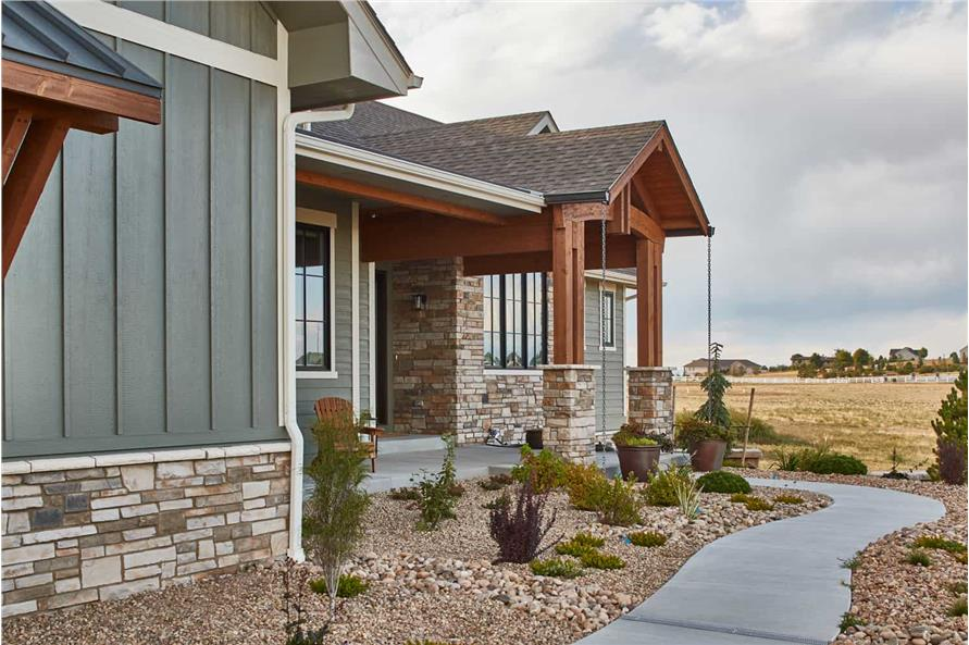 Left Side View of this 3-Bedroom,3548 Sq Ft Plan -161-1123