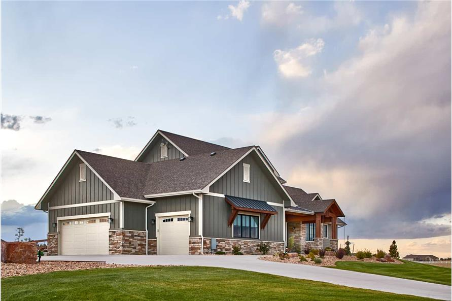 Side View of this 3-Bedroom,3548 Sq Ft Plan -161-1123