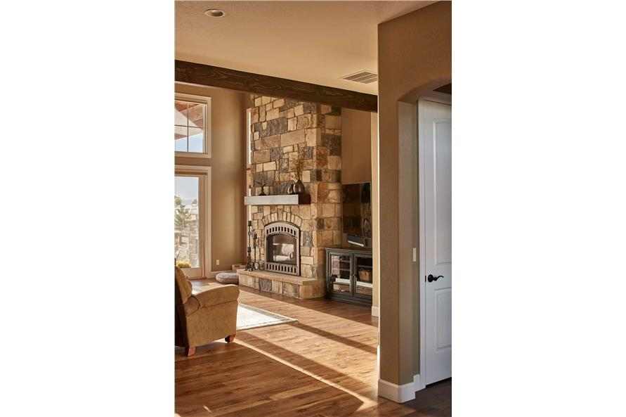Family Room of this 3-Bedroom,3548 Sq Ft Plan -161-1123