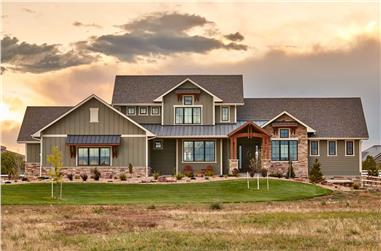 3-Bedroom, 3548 Sq Ft Farmhouse House - Plan #161-1123 - Front Exterior