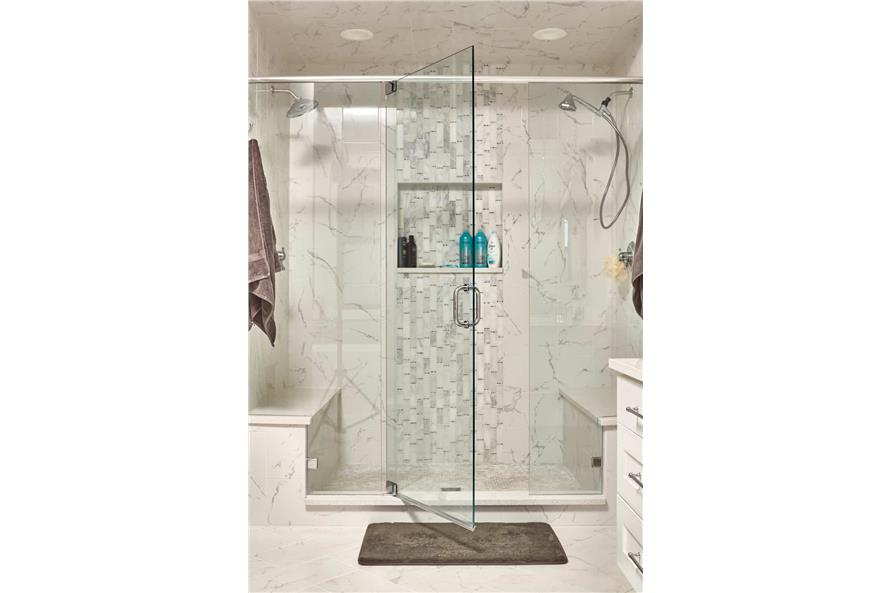 Master Bathroom: Shower of this 4-Bedroom,3237 Sq Ft Plan -161-1124