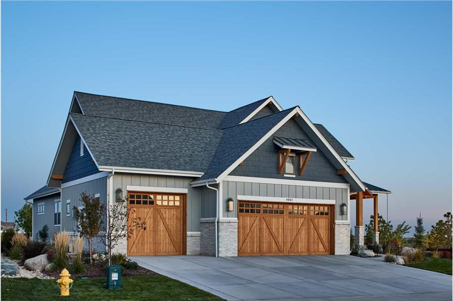 Left Side View of this 4-Bedroom,3237 Sq Ft Plan -161-1124