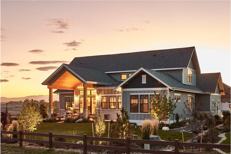 Right Side View of this 4-Bedroom,3237 Sq Ft Plan -161-1124