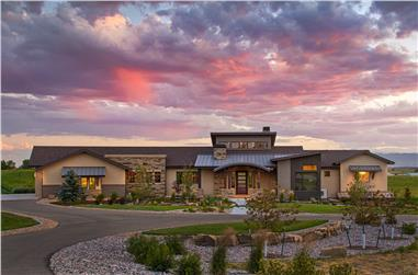 3-Bedroom, 2658 Sq Ft Contemporary House Plan - 161-1125 - Front Exterior