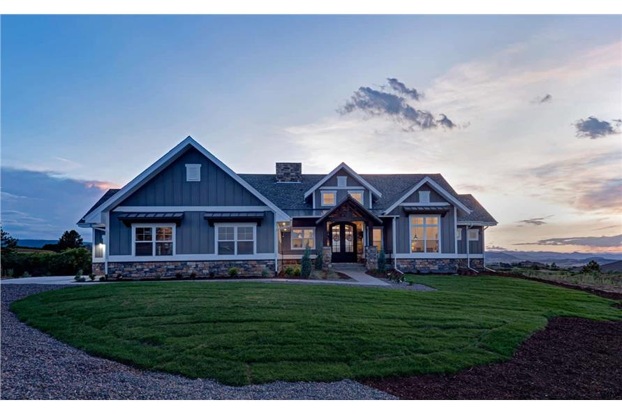 Front View of this 1-Bedroom,2744 Sq Ft Plan -161-1126