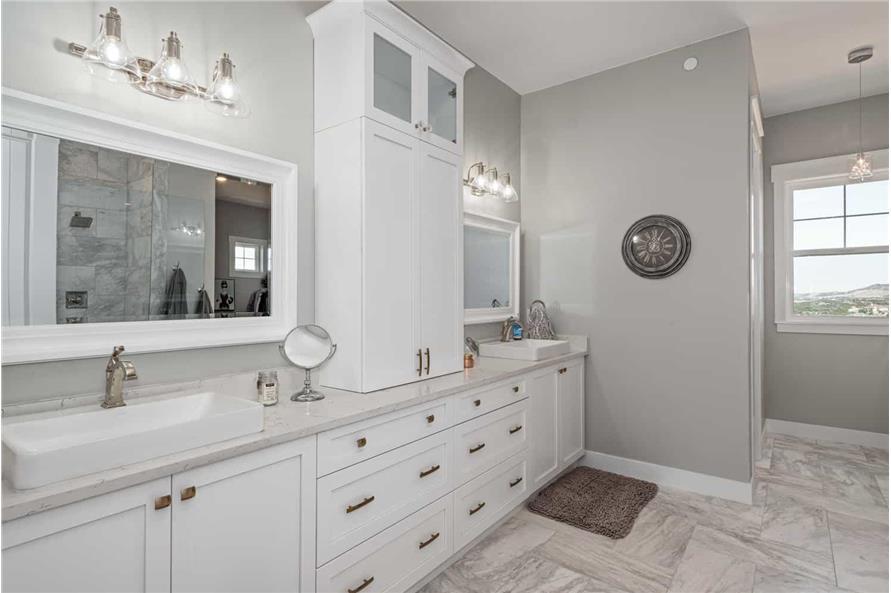 Master Bathroom: Sink/Vanity of this 1-Bedroom,2744 Sq Ft Plan -161-1126