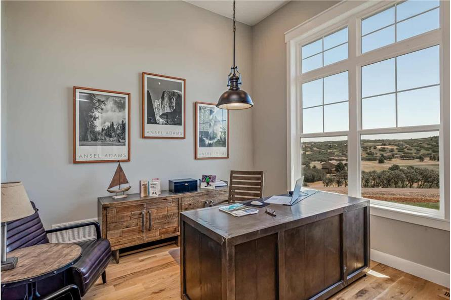 Home Office: Library of this 1-Bedroom,2744 Sq Ft Plan -161-1126