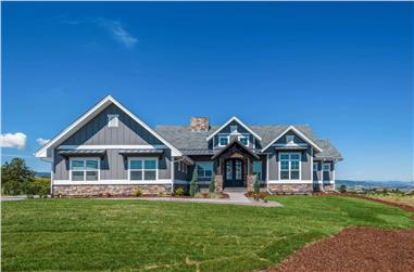 1-Bedroom, 2744 Sq Ft Ranch House Plan - 161-1126 - Front Exterior