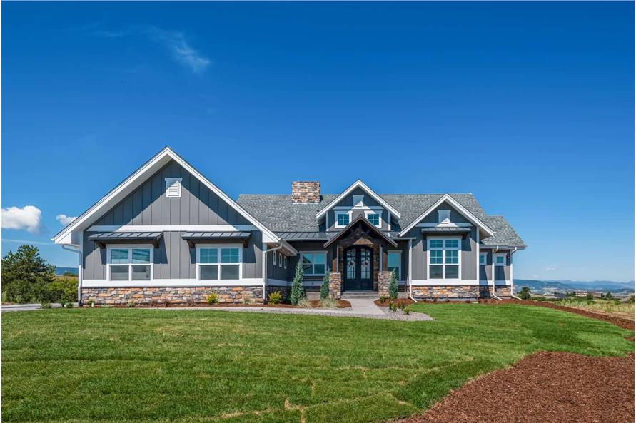 2–4-Bedroom, 2744-4613 Sq Ft Ranch House - Plan #161-1126 - Front Exterior