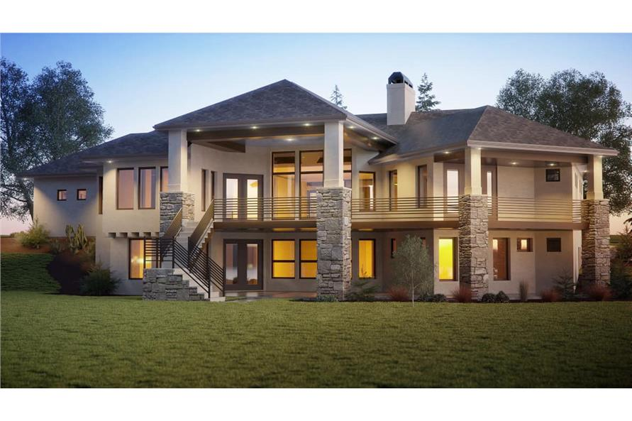 Rear View of this 4-Bedroom,2691 Sq Ft Plan -161-1128