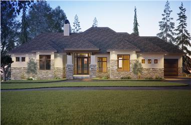 4-Bedroom, 2691 Sq Ft Ranch Home Plan - 161-1128 - Main Exterior