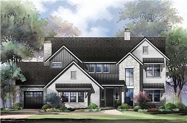 4–6-Bedroom, 3799 Sq Ft Traditional House - Plan #161-1130 - Front Exterior
