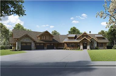 3-Bedroom, 2803 Sq Ft Ranch Home - Plan #161-1131 - Main Exterior