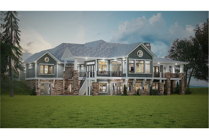 Rear View of this 2-Bedroom,2788 Sq Ft Plan -161-1133