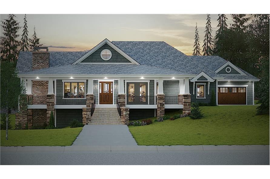 2–4-Bedroom, 2788 Sq Ft Ranch Home - Plan #161-1133 - Main Exterior