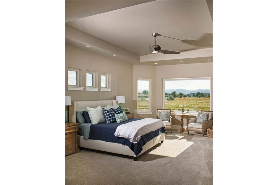 Master Bedroom of this 3-Bedroom,2925 Sq Ft Plan -161-1135