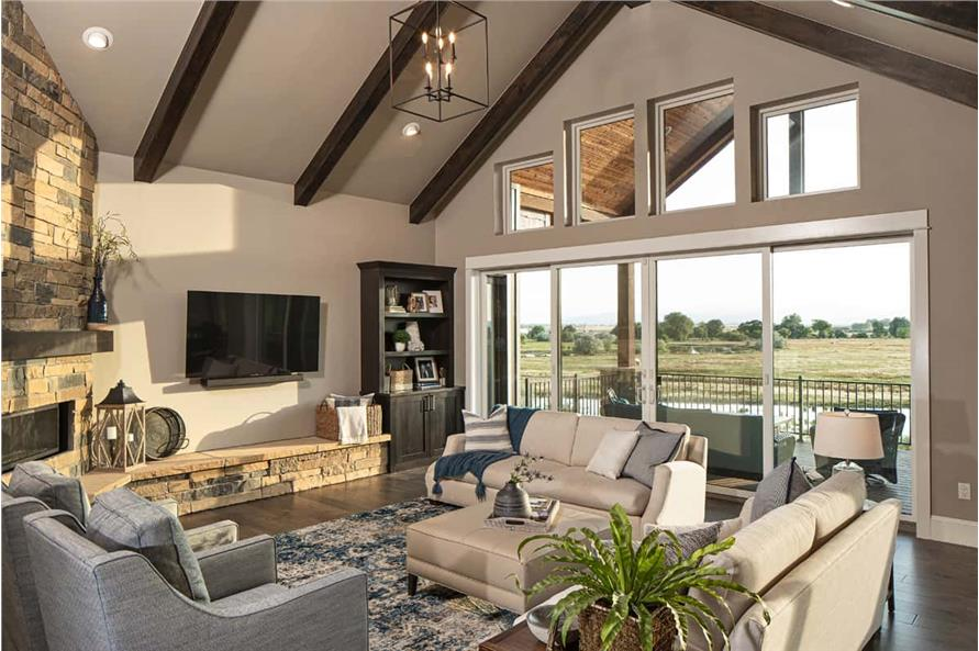 Great Room of this 3-Bedroom,2925 Sq Ft Plan -161-1135
