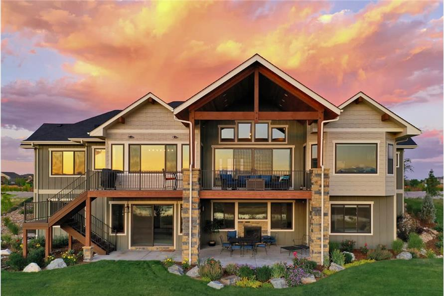 Rear View of this 3-Bedroom,2925 Sq Ft Plan -161-1135